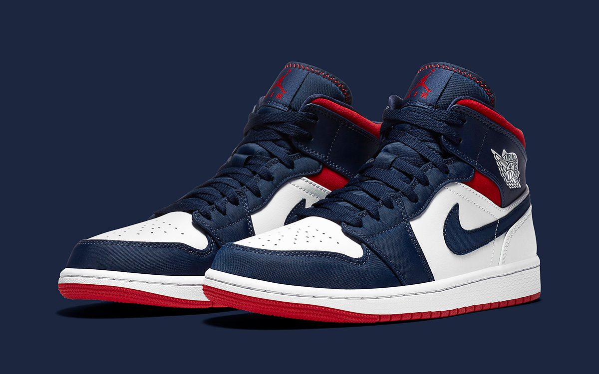 Air Jordan 1 Mid Usa Is Available Now House Of Heat Sneaker