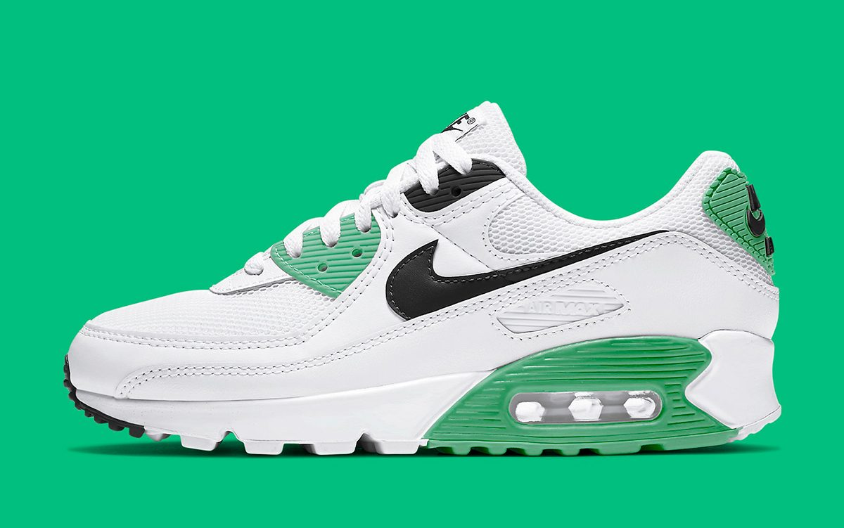 The Air Max 90 Arrives In A Fresh White Black And Green Mix For Summer House Of Heat Sneaker News Release Dates And Features