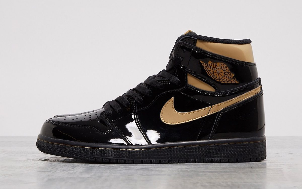 "Air Jordan 1 High Patent ""Black/Gold"" Arrives on Cyber Monday"