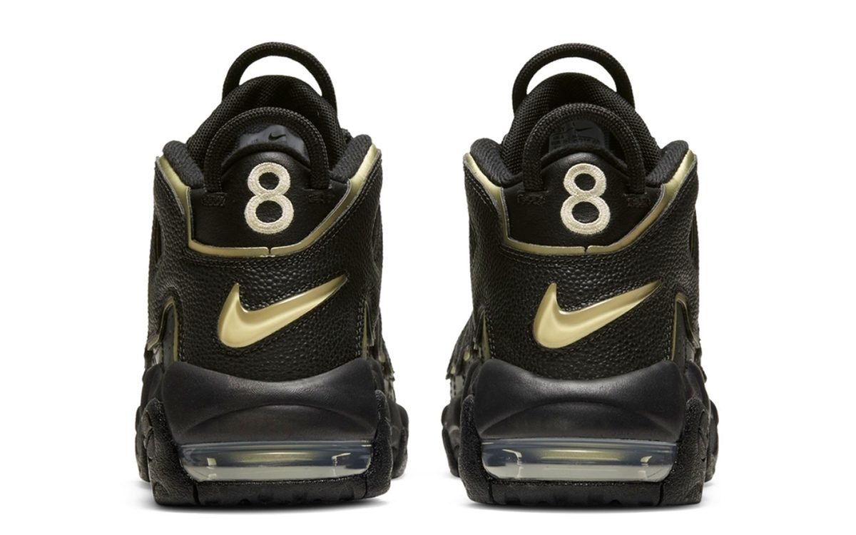 This Black & Gold Nike Air More Uptempo Celebrates Scottie Pippen's Olympic Jersey Number