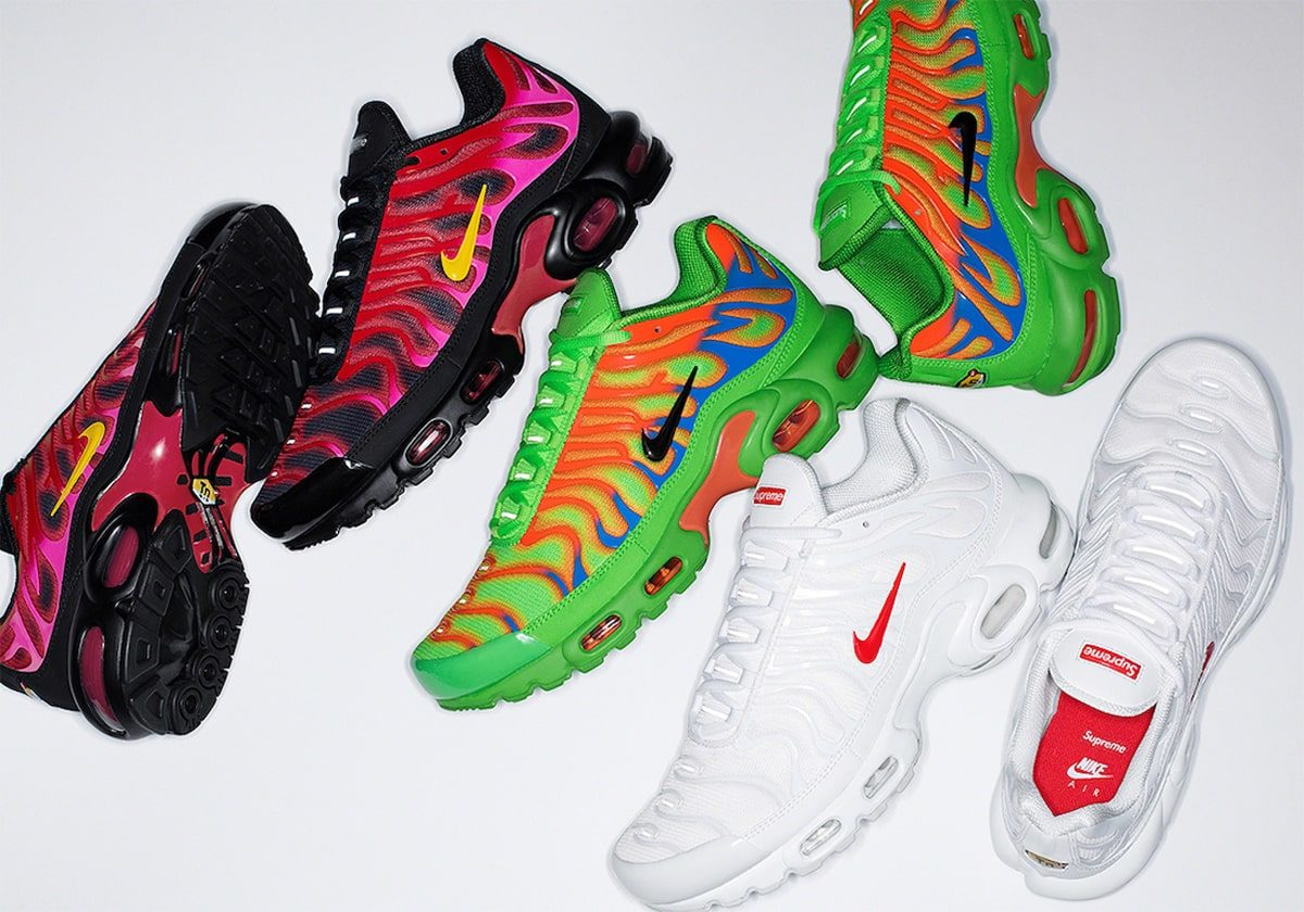 Supreme x Nike Air Max Plus Pack to See Wider Release on October 22nd