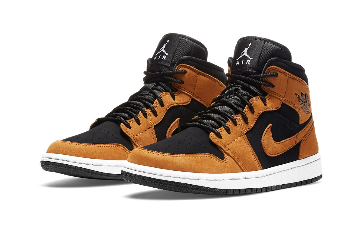 The Air Jordan 1 Mid Gets a Seasonal Wheat and Black Makeover