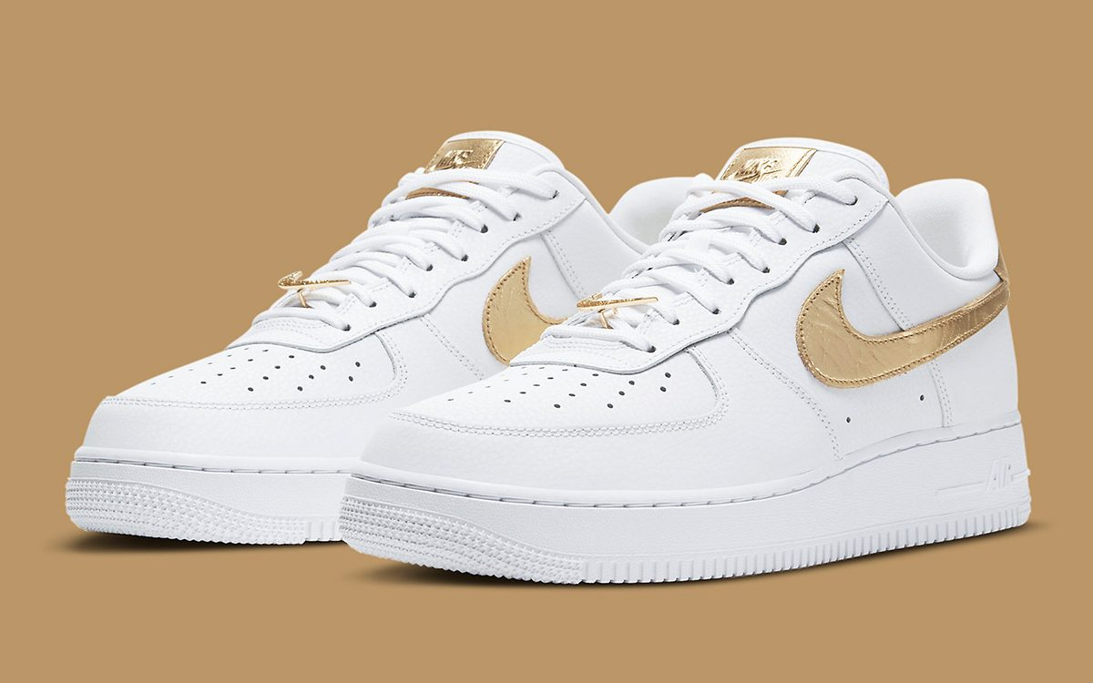 The Air Force 1 Gears-Up with Gold Foil and Elegant Encrusted ...