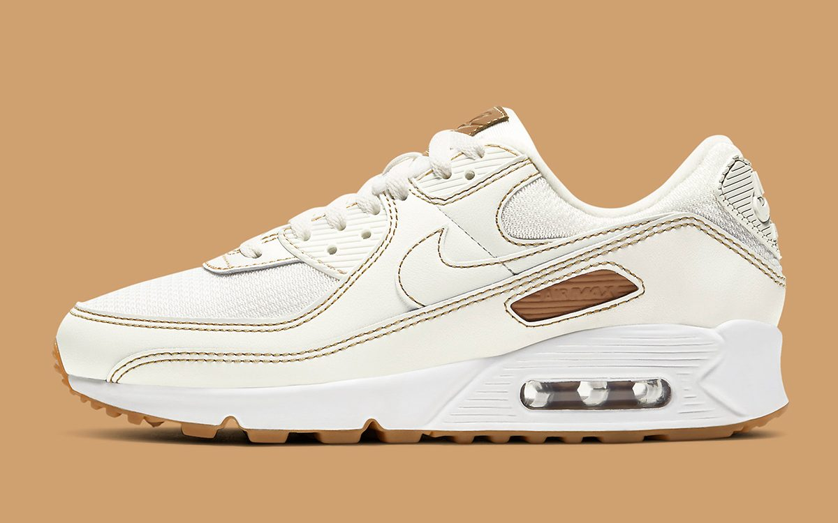 The Air Max 90 Gets Geared with Gum Soles and Contrast Stitching
