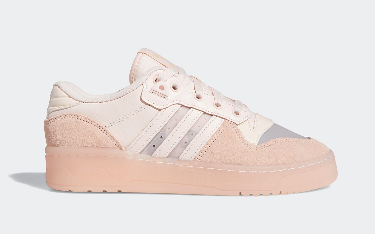 """Available Now // adidas Rivalry Low """"Rose"""" Arrives with Translucent Toes and Jelly Soles"""