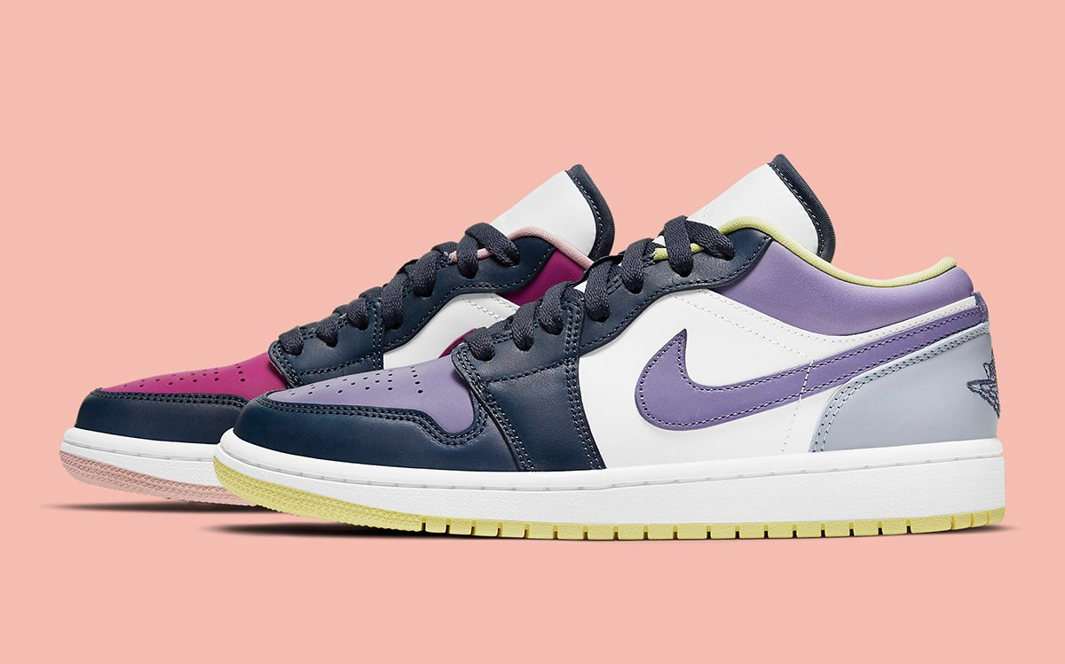 The Air Jordan 1 Low Appears with Mismatched Muted Hues | HOUSE OF ...