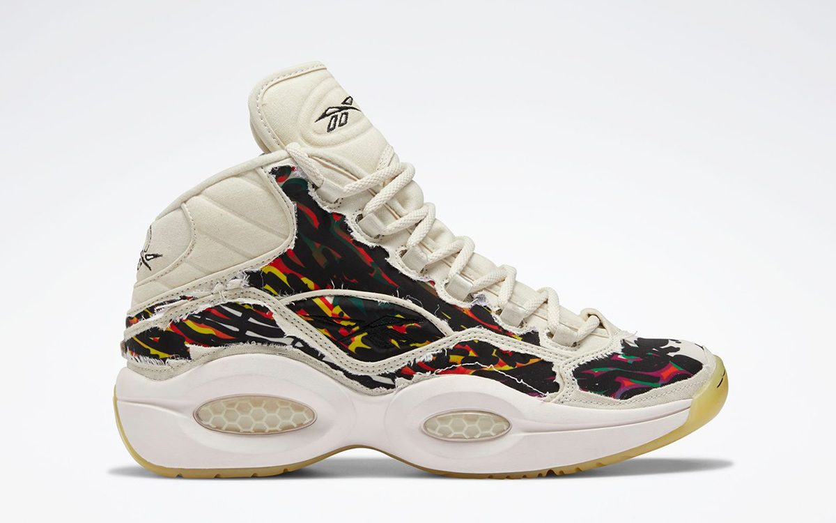 """Official Looks at the Tear-Away Reebok Question Mid """"Halloween"""""""