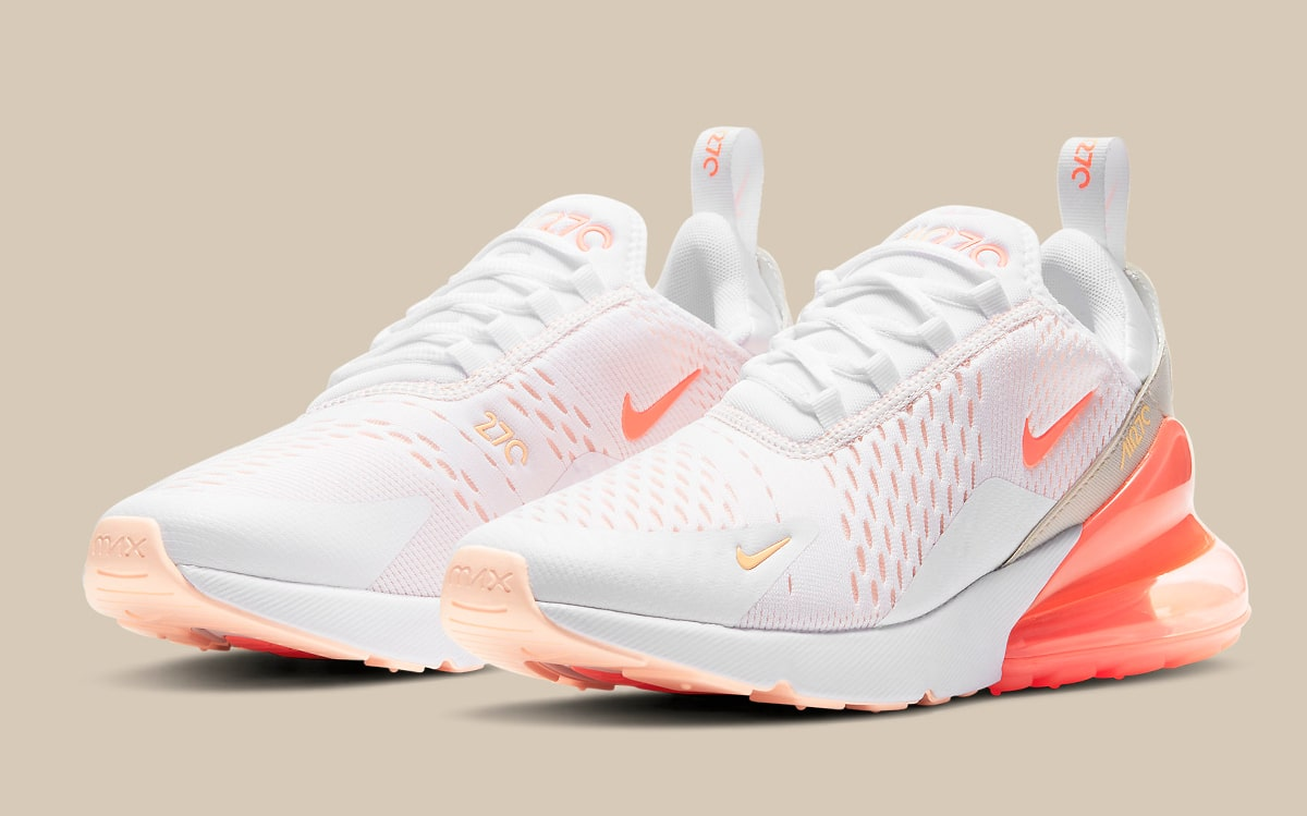 Nike Air Max 270 Appears in White and Orange Arrangement   HOUSE ...
