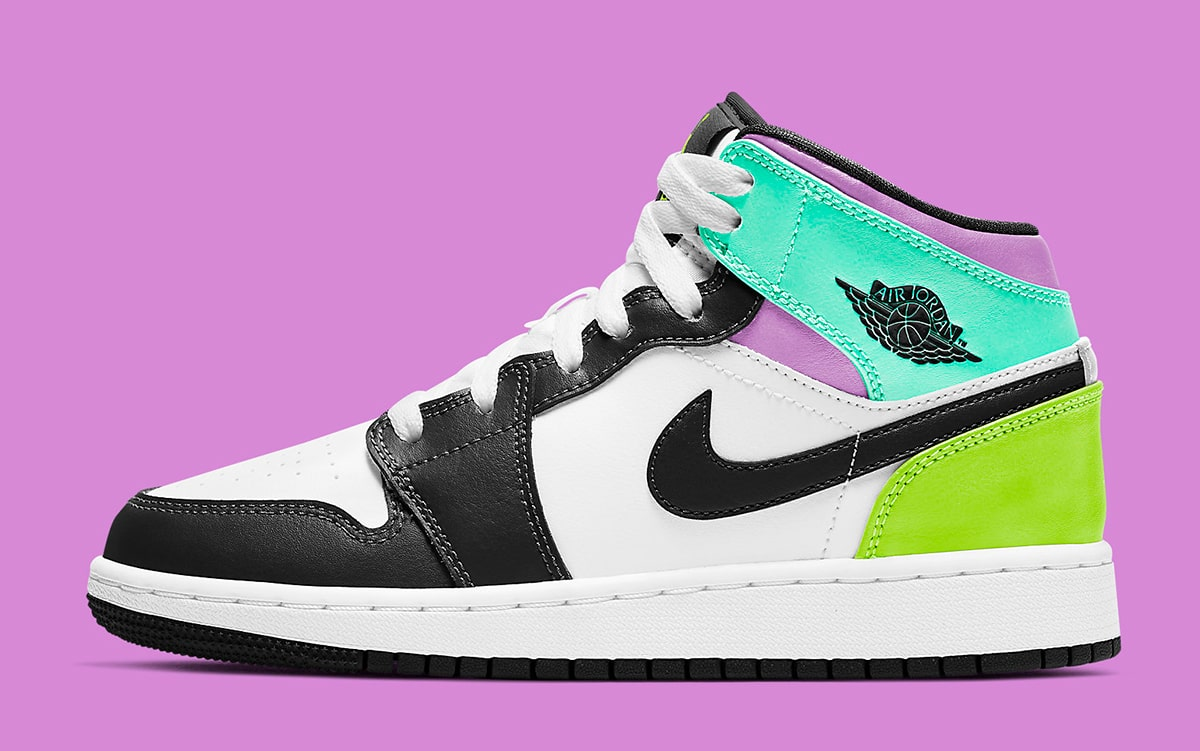 Available Now // Kids Air Jordan 1 Mid Comes-Up in Lively Colors ...