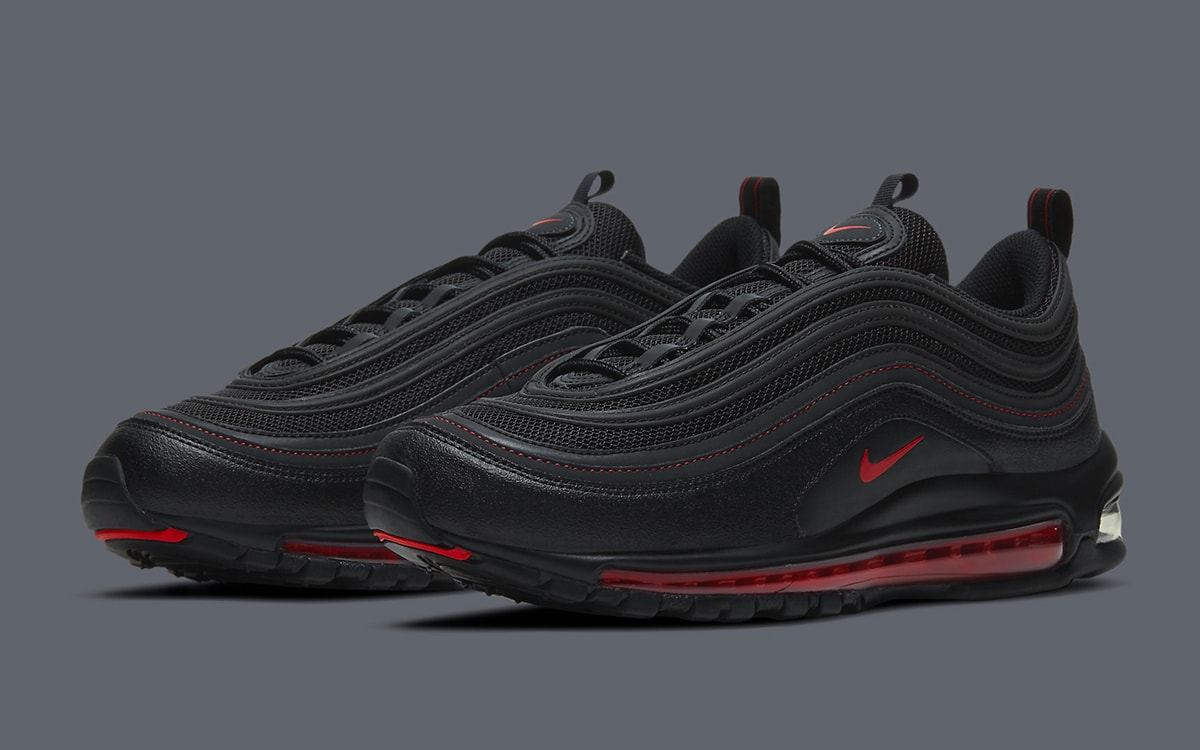 The Nike Air Max 97 Appears in Another Black and Red Arrangement ...