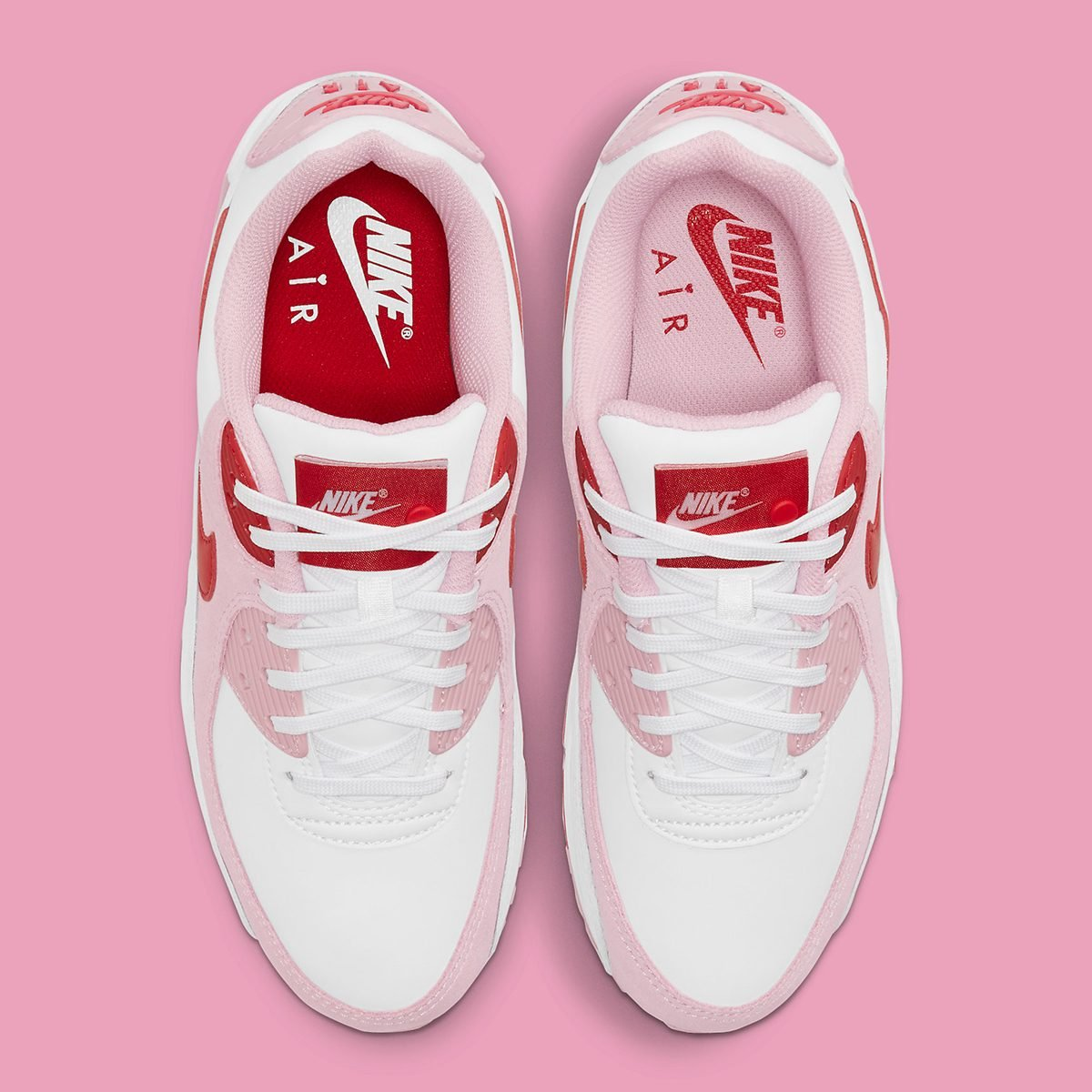 """Air Max 90 """"Valentine's Day"""" Bears Love Letter Tongue Tags"""