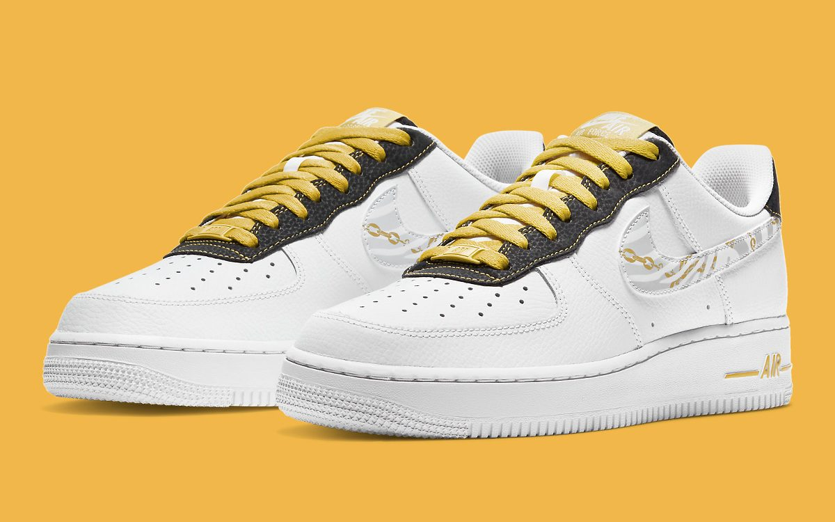 Available Now // Air Force 1 Low With Gold Links and Reflective ...