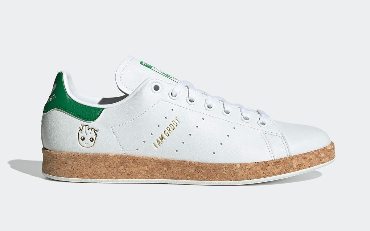 """Sustainable Characters Continue on the adidas Stan Smith """"Groot"""""""