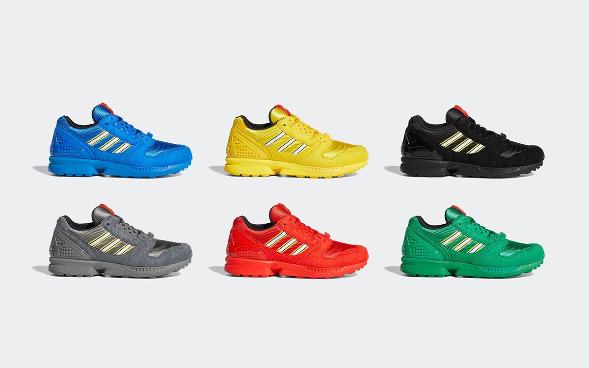 "LEGO x adidas ZX 8000 ""Color Pack"" Comes in Six Ways"