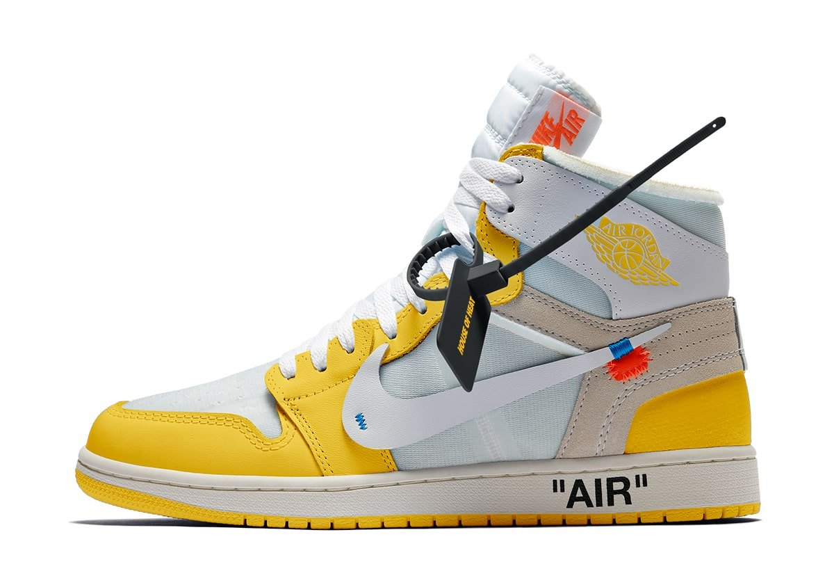 off white x air jordan 1 high og canary yellow release date 2021 1