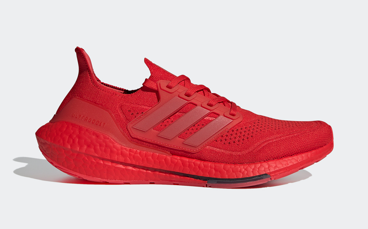 """adidas Ultra BOOST 21 """"Vivid Red"""" Arrives March 1st"""
