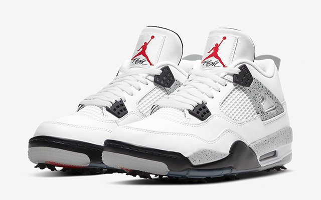 "Air Jordan 4 Golf ""White Cement"""