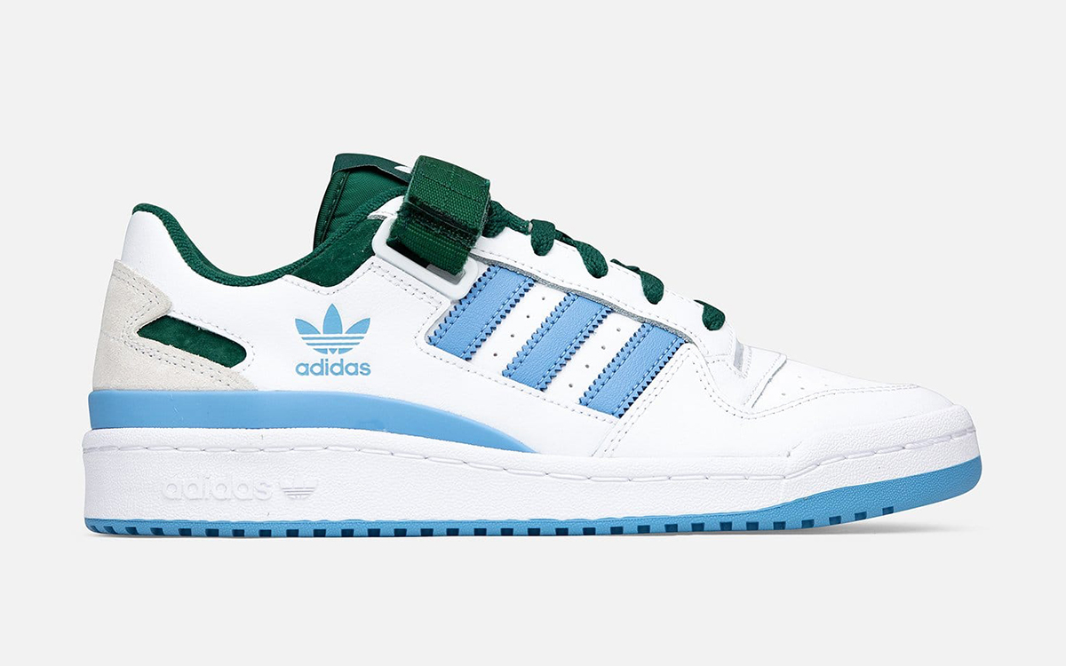 Available Now // adidas Forum Low in White, Blue and Green