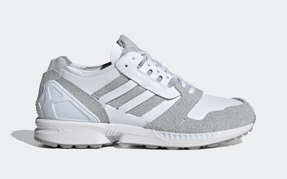 """adidas ZX 8000 """"Minimalist Icons"""" is Made of White Leather and Grey Suede"""