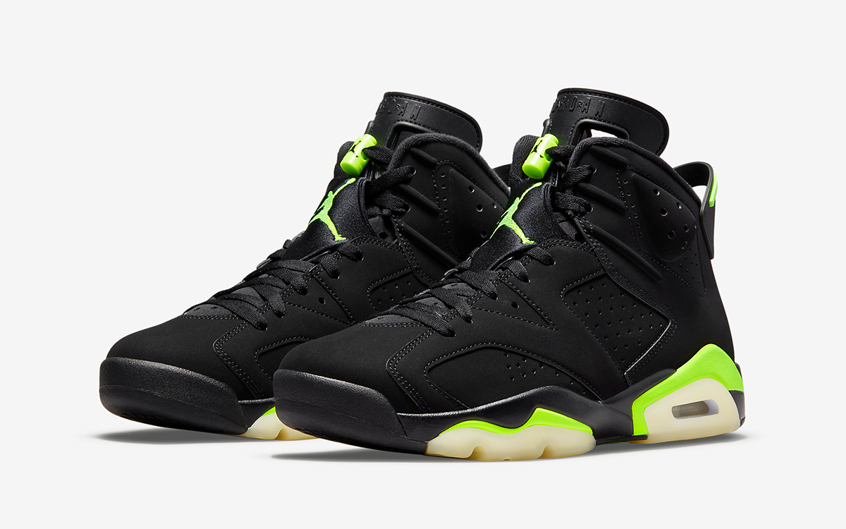 "Official Images // Air Jordan 6 ""Electric Green"""