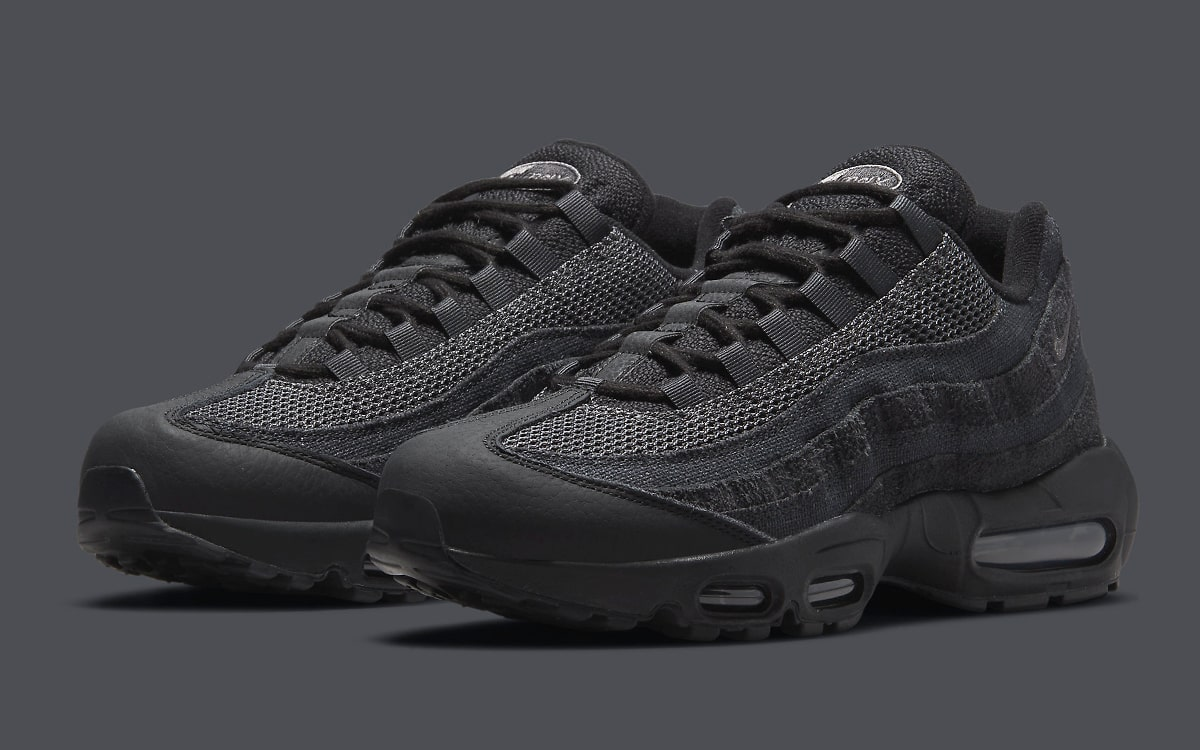 Nike Serve Up a Stealthy Air Max 95 in Textured Triple Black ...