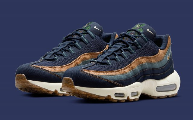"""Nike Air Max 95 """"Cork"""" Knocks Out a Navy Option"""