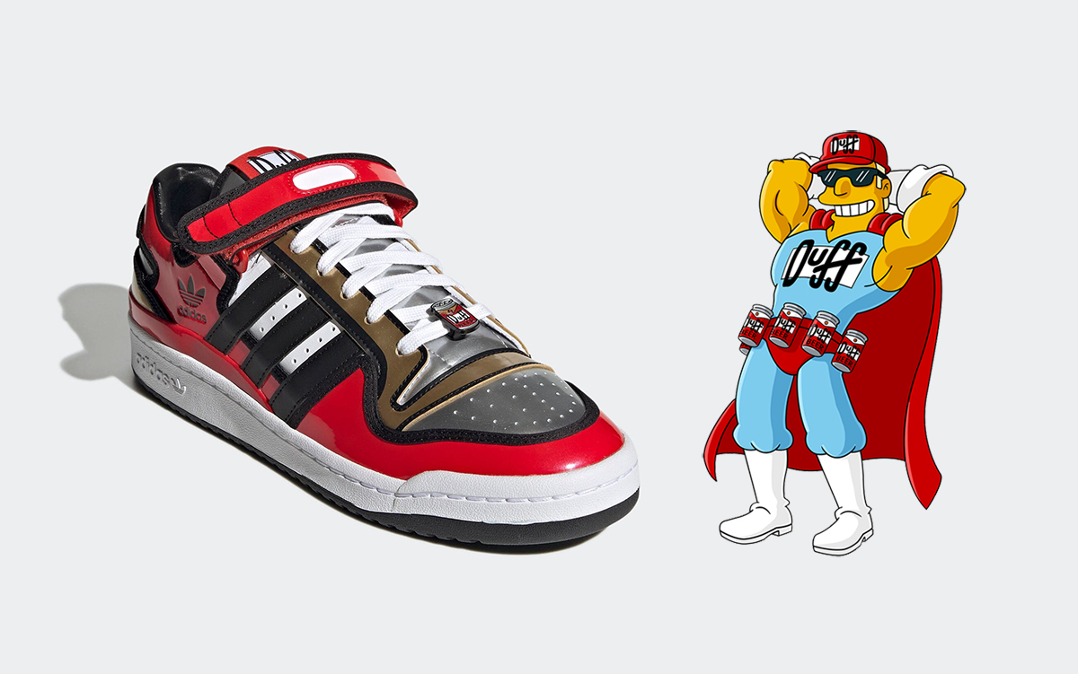 """The Simpsons x adidas Forum Low """"Duff Beer"""" Drops May 19th"""