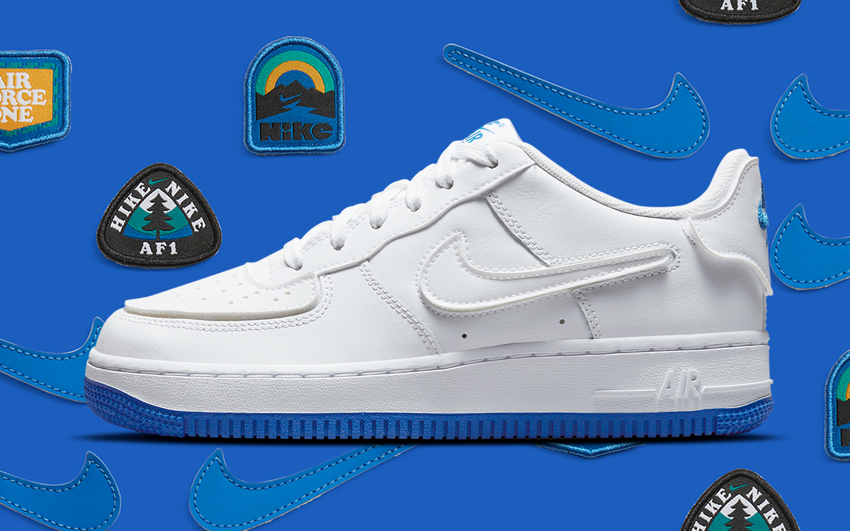 Available Now // Velcro Air Force 1 Low with Outdoor-Inspired Patches