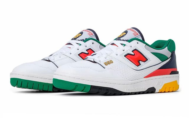 """Available Now // New Balance 550 """"White Multi-Color"""""""