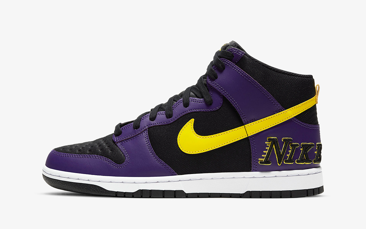 """Nike Dunk High EMB """"Lakers"""" Arrives May 28th"""