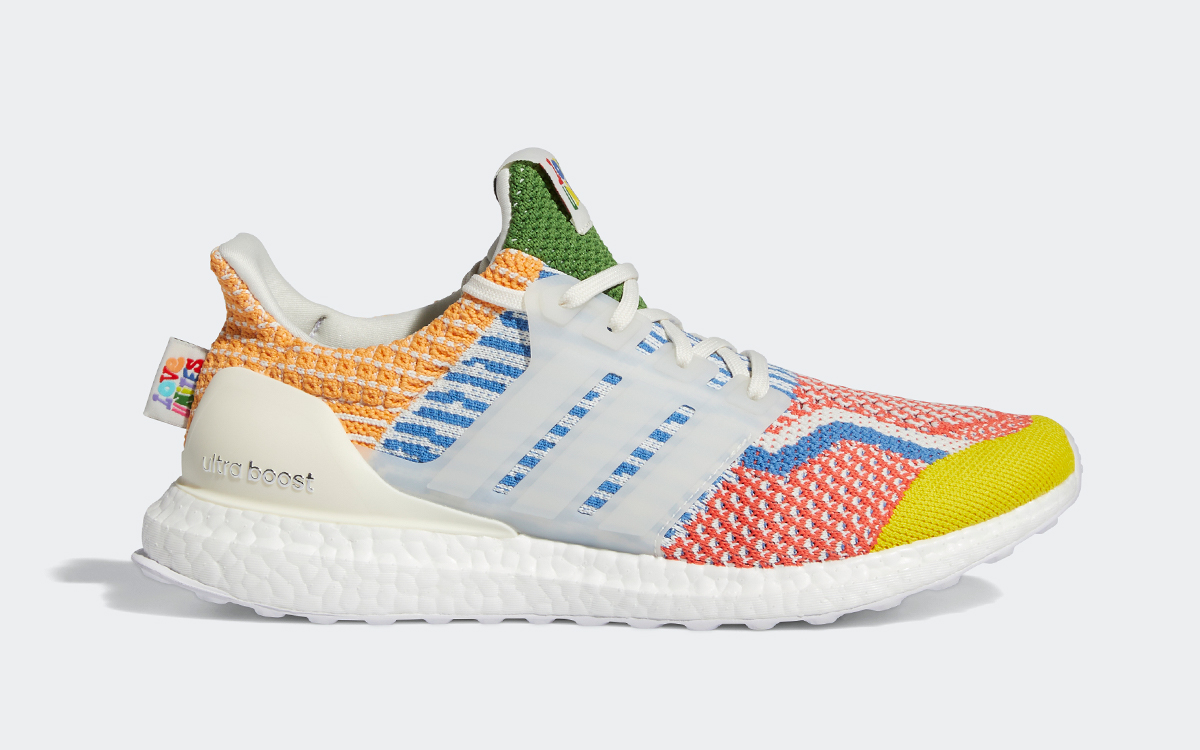 adidas Dress the Ultra BOOST 5.0 with Rainbow Weave for Pride Month