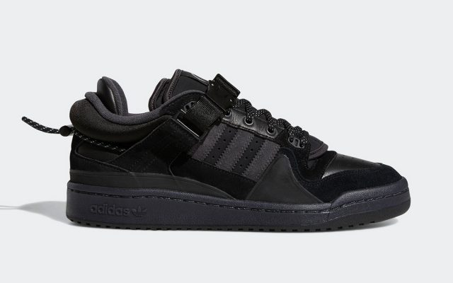 """Official Images // Bad Bunny x adidas Forum Low """"Triple Black"""""""