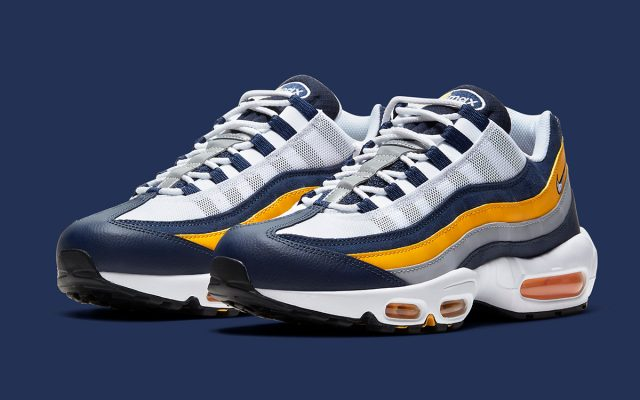 Available Now // Air Max 95 in Navy, White, and Gold