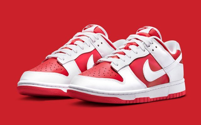 """Nike Dunk Low """"University Red"""" Will Also Arrive in Adult Sizing"""