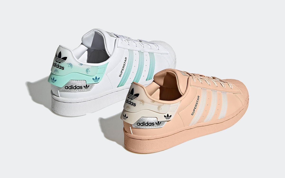 Two adidas Superstars Surface With Triple-Layered Overlays