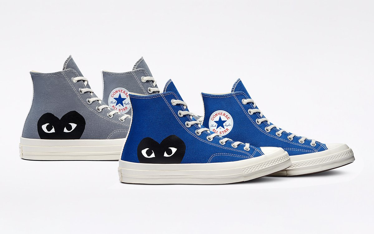 """CDG x Converse Chuck 70 """"Blue Quartz"""" and """"Steel Gray"""" Drop in Highs and Lows on June 3rd"""