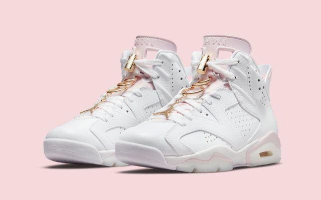 """Official Images // Air Jordan 6 """"Barely Rose"""" (Gold Hoops)"""